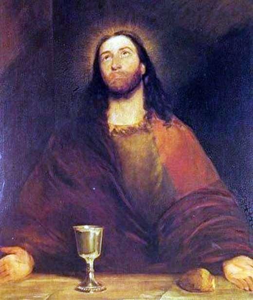 キリストがパンとワインを聖別化する   John Constable