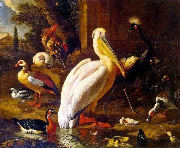公園の鳥たち   Melchior de Hondekuter