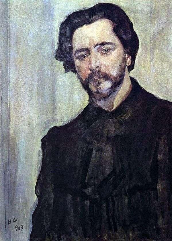 作家Leonid Andreev   Valentin Serovの肖像画