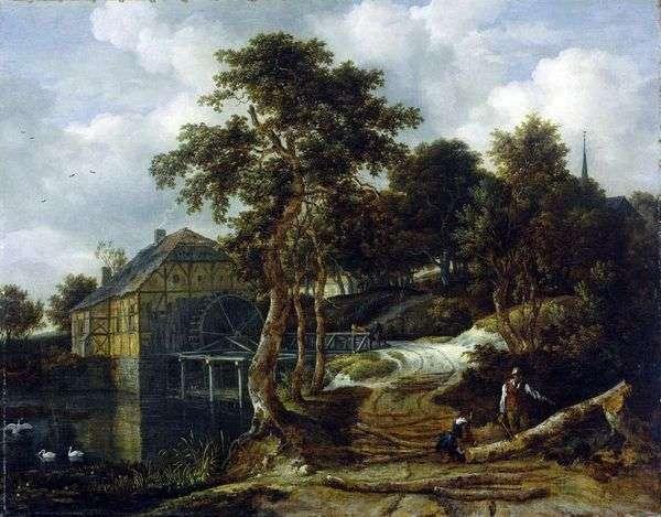ミルのある風景   Jacob van Ruisdal