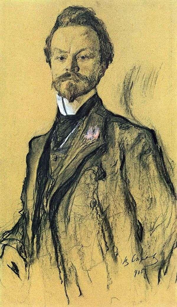 詩人K. Balmont   Valentin Serovの肖像