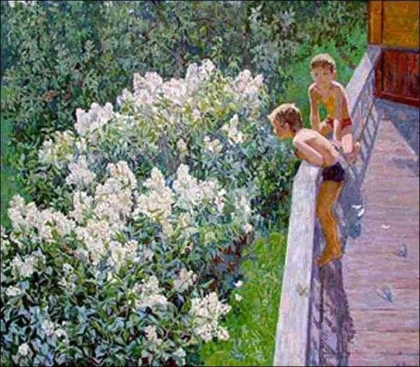 夏の日 ライラックが咲いています   Maya Kopytseva