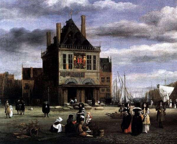 アムステルダムの広場   Jacob van Ruisdal