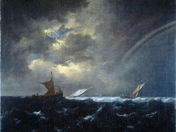 嵐の海   ヤコブ・ファン・ルイスダルの虹