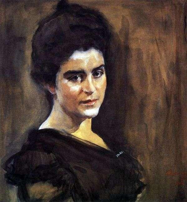 S. M. Dragomirova Lukomskaya   バレンティンセロフの肖像画
