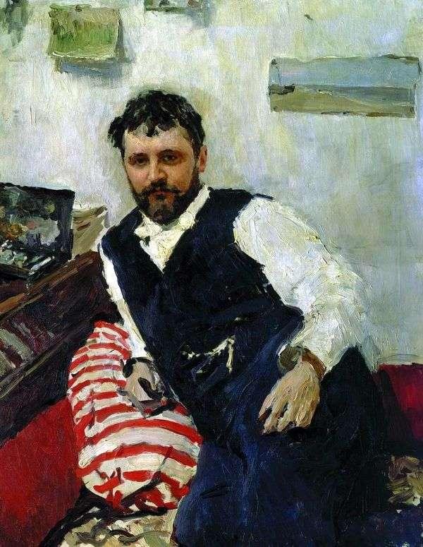 アーティストK. A. Korovin   Valentin Serovの肖像画