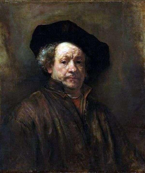 54歳の自画像   レンブラントハーメンスヴァンライン