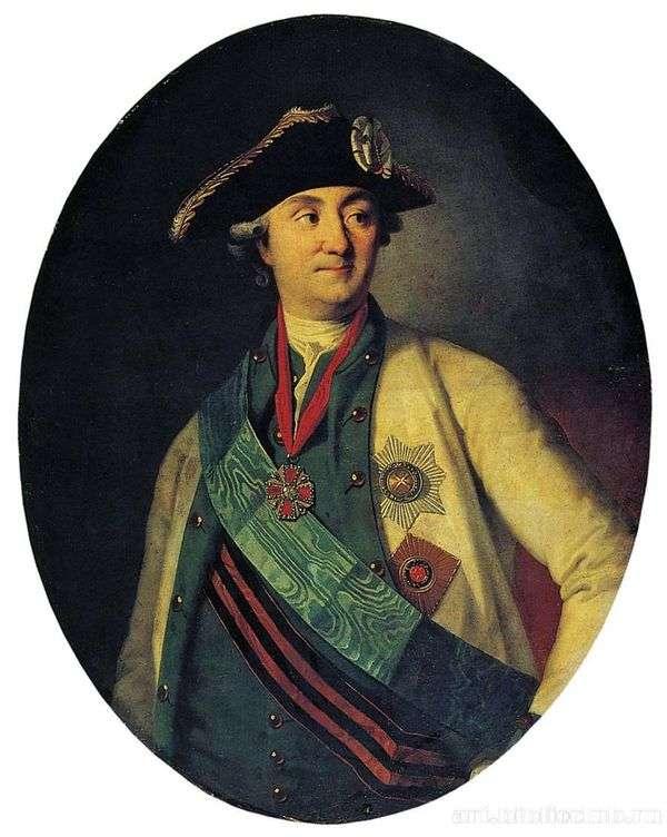 カウントA. G. Orlov Chesmenskyの肖像   カール・ルードヴィッヒ・クリステナク