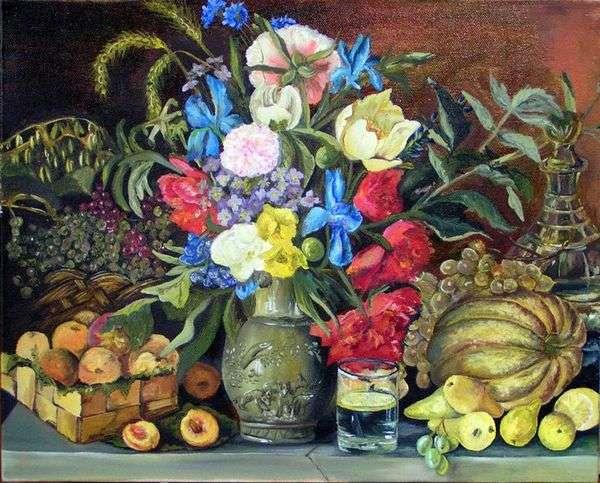 花とフルーツ   Ivan Khrutsky