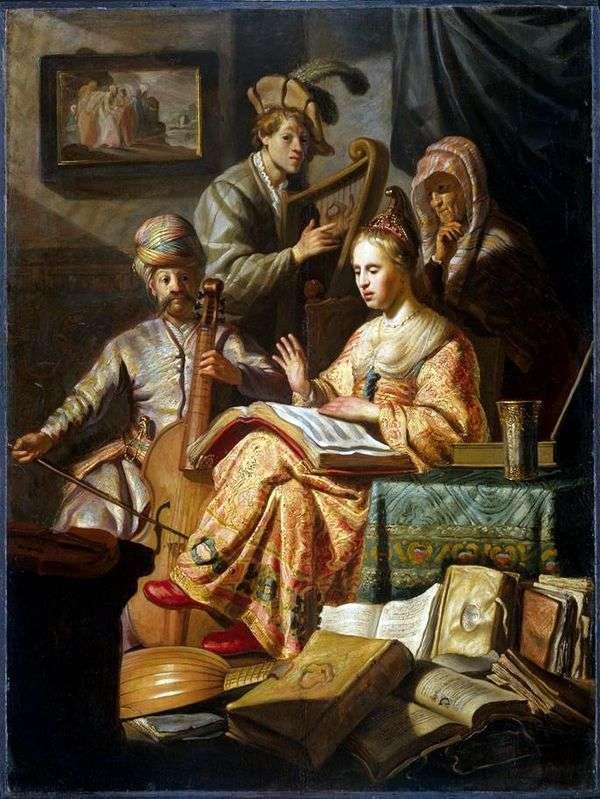 Allegory of Music   レンブラントハーメンスヴァンライン