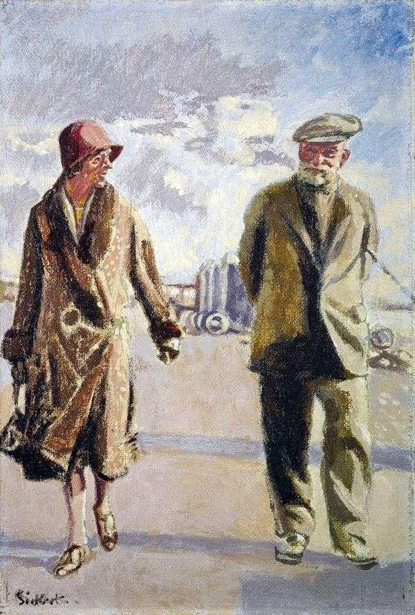妻とのセルフポートレート   Walter Richard Sickert