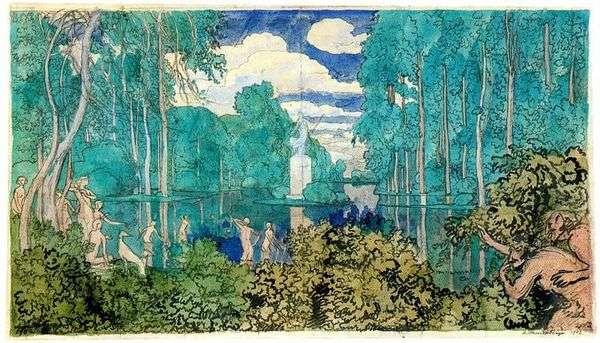 公園の池   アレクサンダーブノワ