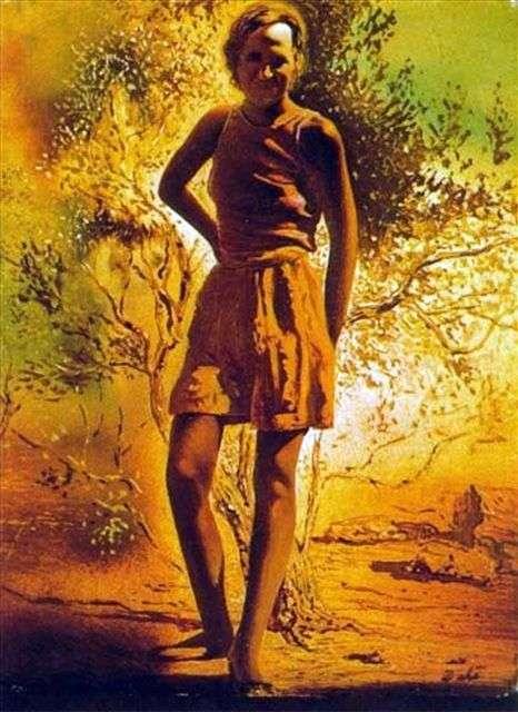 夏の午後   サルバドール・ダリのガラの肖像画