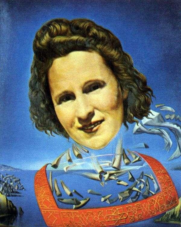サイの牙   サルバドール・ダリとガラの肖像画