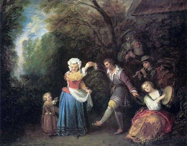 牧歌的な踊り   Jean Antoine Watteau