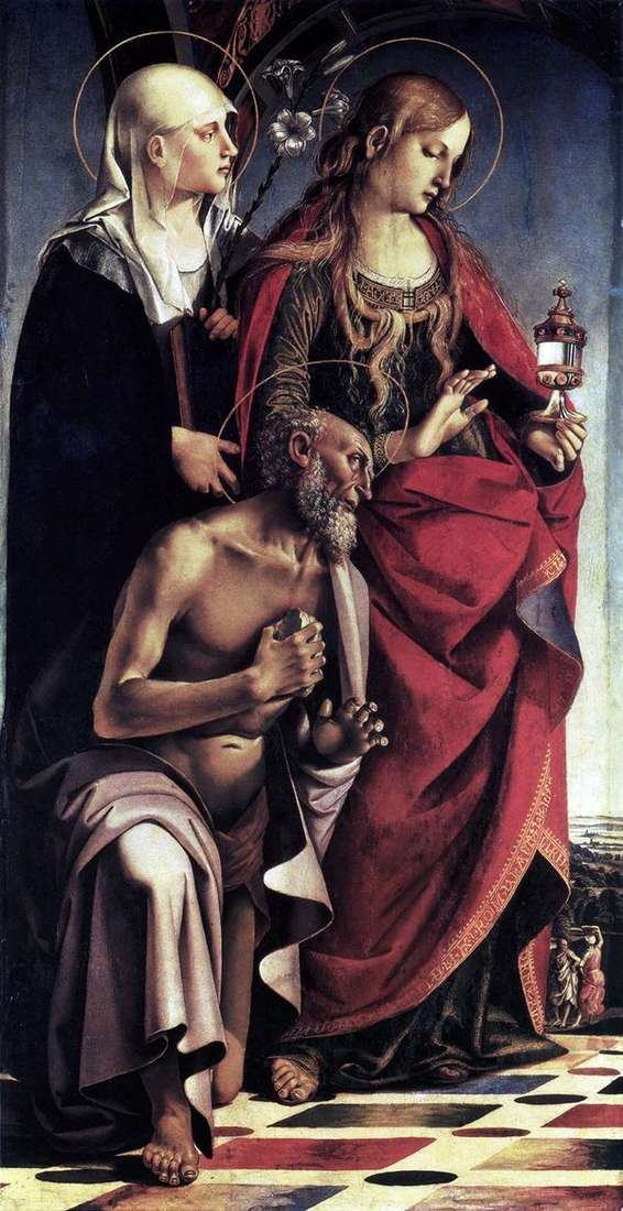 Stsの祭壇。アウグスティヌス   ルカ・シニョレッリ
