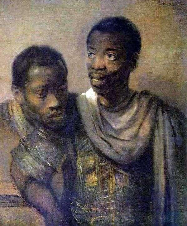 Two Blacks   レンブラント・ハーメンスヴァンライン