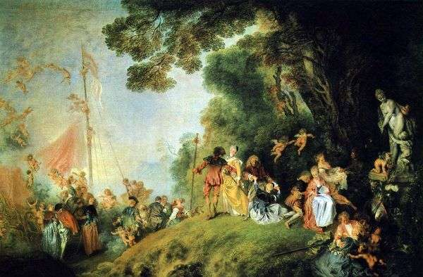 キーファー島に到着   Jean Antoine Watteau
