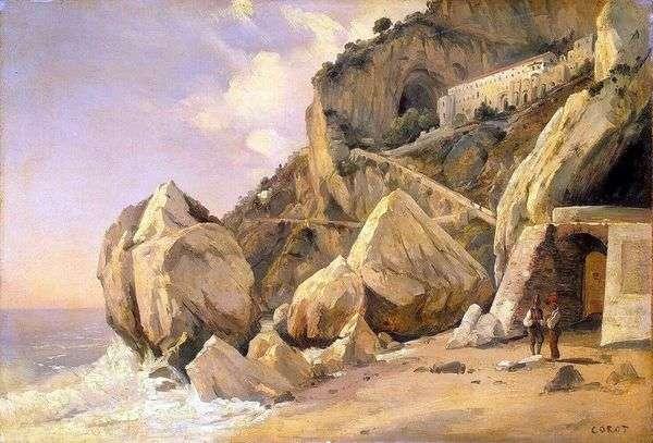 アマルフィの岩   カミーユコロー