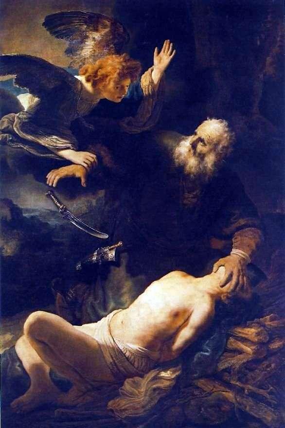 アブラハムの犠牲   レンブラントハーメンスヴァンライン