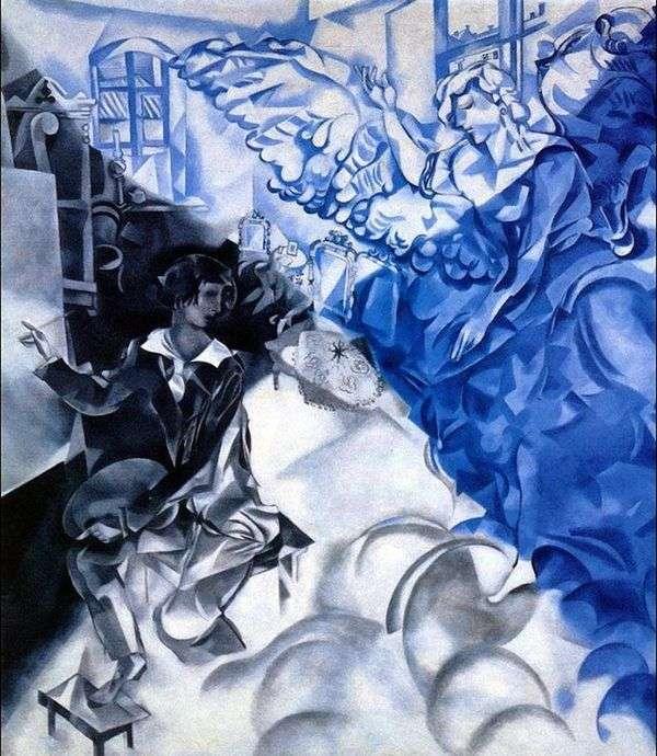 ミューズのある自画像(夢)   Marc Chagall
