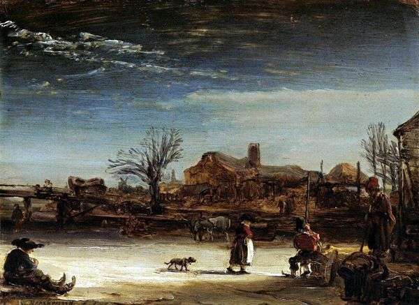冬の風景   レンブラントハーメンスヴァンライン
