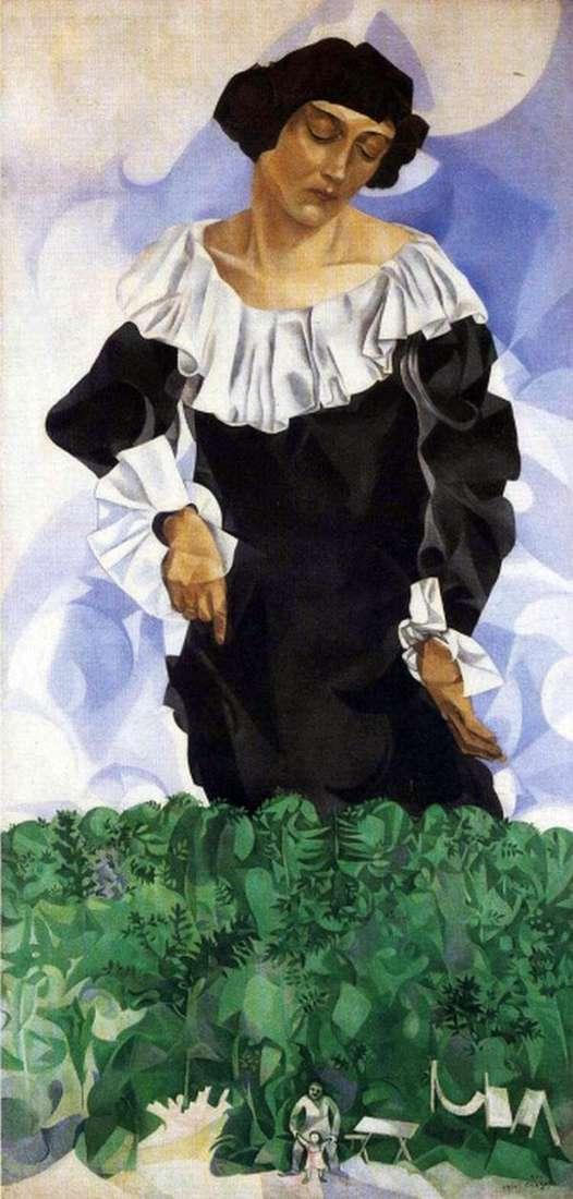 ホワイトカラーのベラ   Marc Chagall