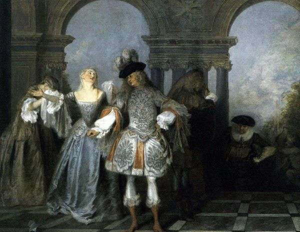 フランスのコメディシーン   Jean Antoine Watteau
