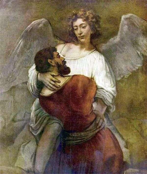 ジェイコブは天使と戦う   レンブラントハーメンスヴァンライン