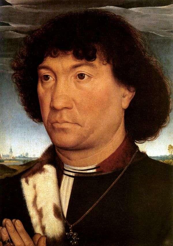 男の肖像   ハンス・メムリンク