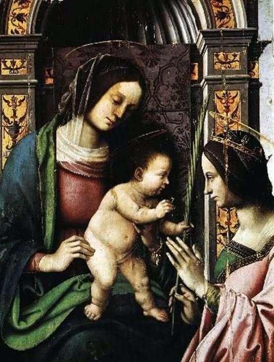 アレクサンドリアの聖カタリナの婚約   ジョバンニ・バッティスタベルトゥッチ