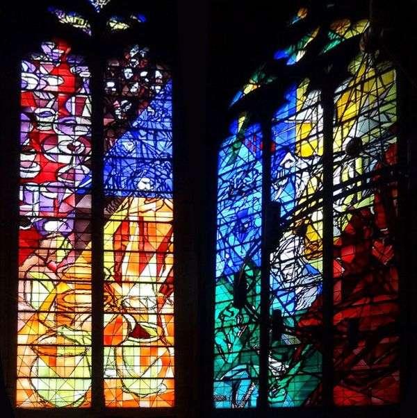メス   Marc Chagallの聖ステファン大聖堂のステンドグラス