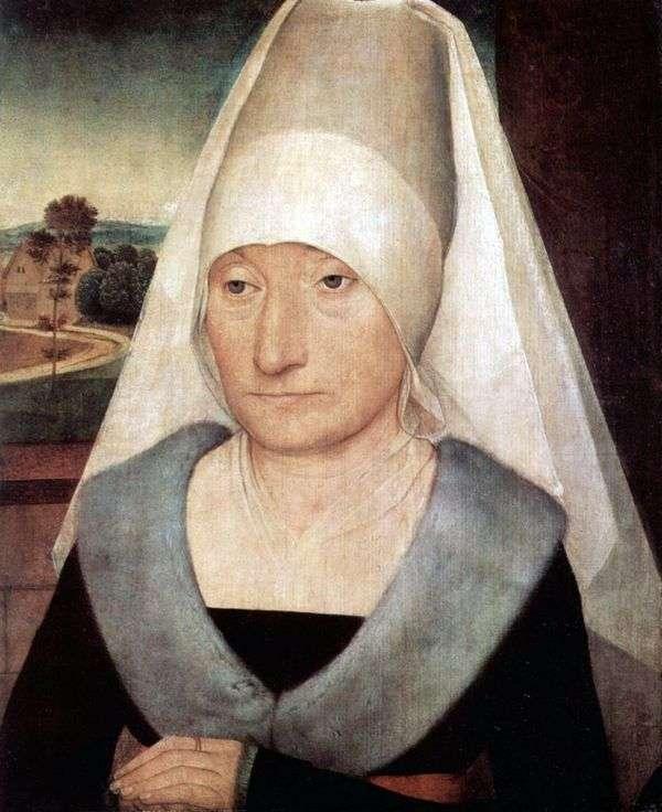 老婦人の肖像   ハンス・メムリング