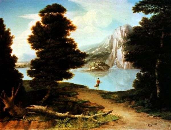 湖   アルストンワシントンのある風景
