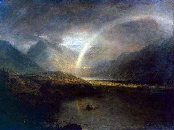 バターミア湖と虹と雨   William Turner