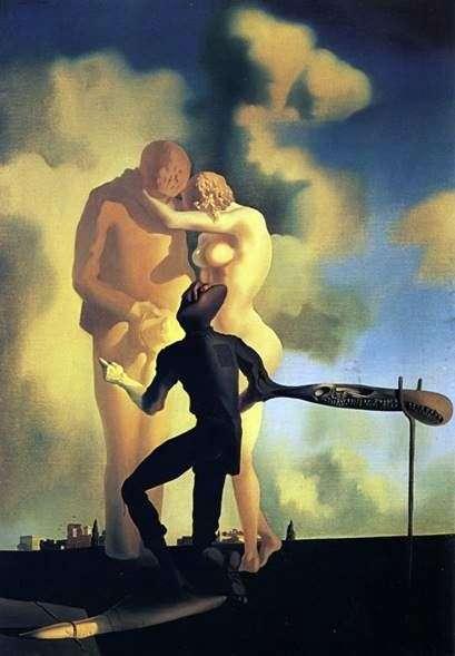 ハープの熟考   Salvador Dali