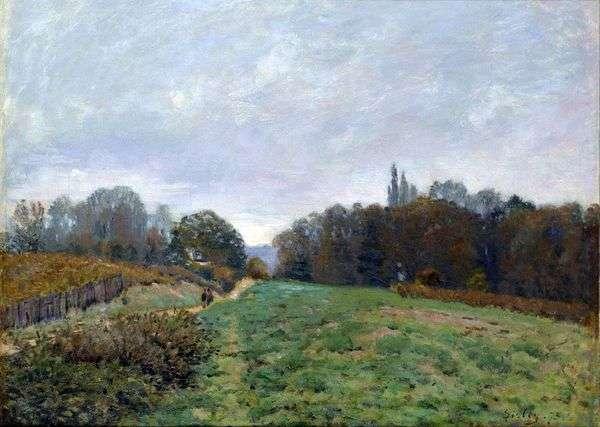 Louviennenneの風景   アルフレッド・シスレー