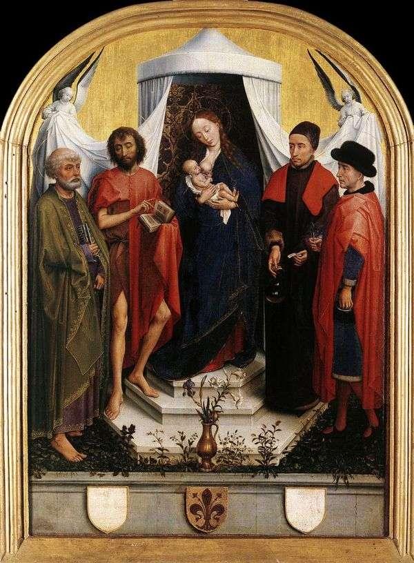 子供と四つの聖人とマドンナ   Rogier van der Weyden