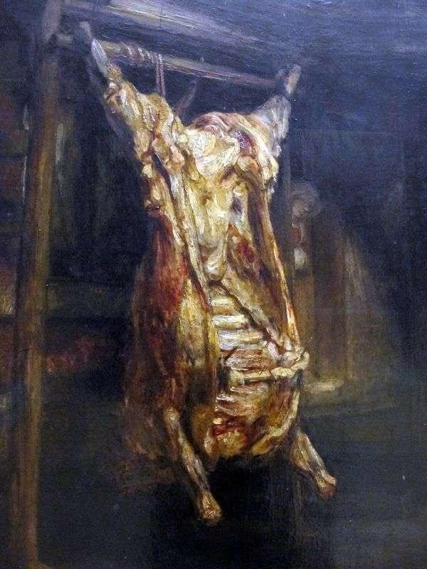 Skinned Bull Carcass   レンブラントハーメンスヴァンライン