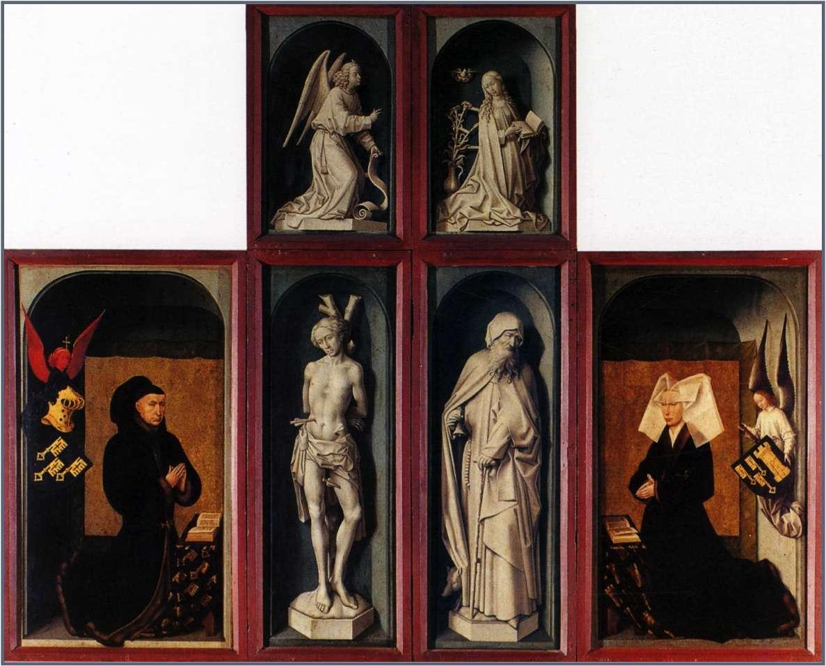 ローレン首相と彼の妻   Rogier van der Weydenの肖像
