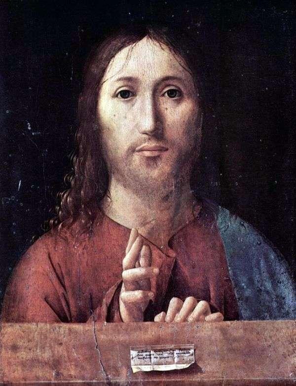 キリストを祝福   Antonello da Messina