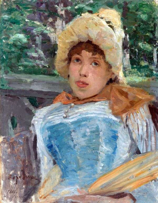 コーラスの少女の肖像   Konstantin Korovin
