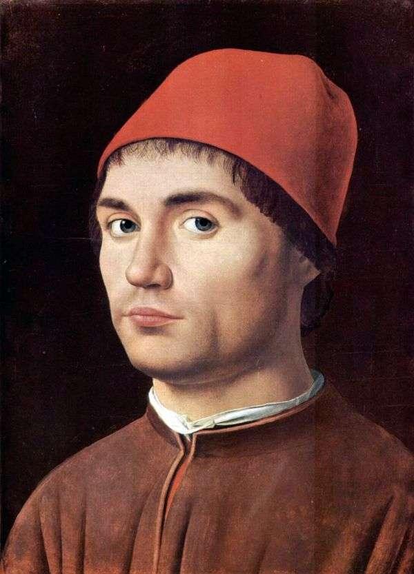 男性の肖像画   アントネッロ・ダ・メッシーナ