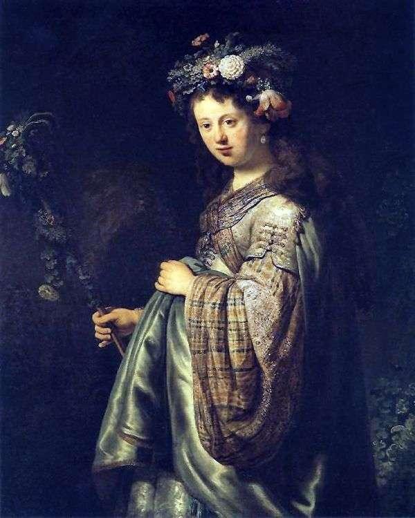 フローラ   レンブラント・ハーメンス・ヴァン・ラインとしてのサスキアの肖像