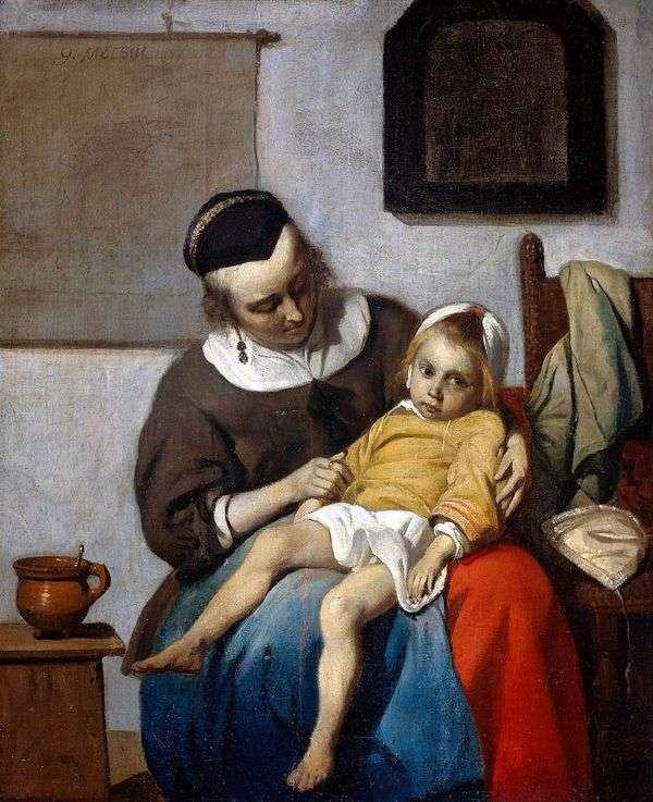 病気の子供   ガブリエルメツ