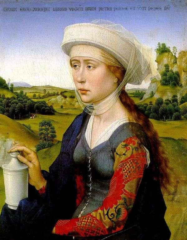 右翼はMary Magdaleneです。家族の結婚トリプティク   Rogier van der Weyden