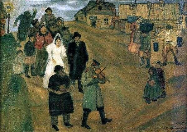 ロシアの結婚式   マーク・シャガール