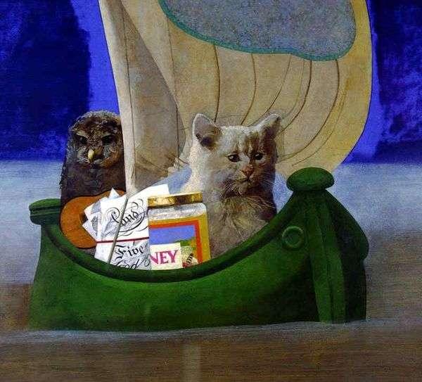 フクロウと猫   Peter Blake
