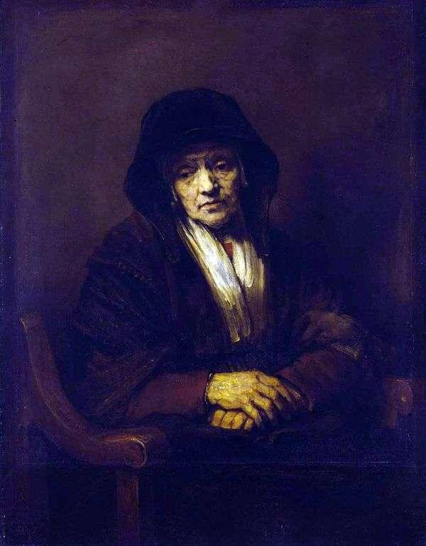 老婦人   レンブラント・ハーメンス・ヴァン・ラインの肖像