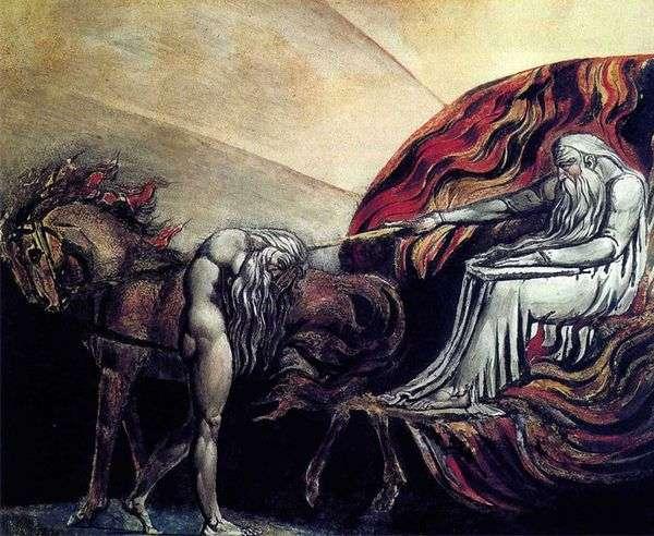 神の宮廷の前でアダム   Hives Blake